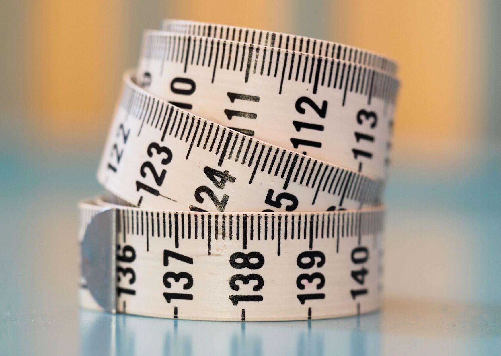 la tabla de medidas en inglés