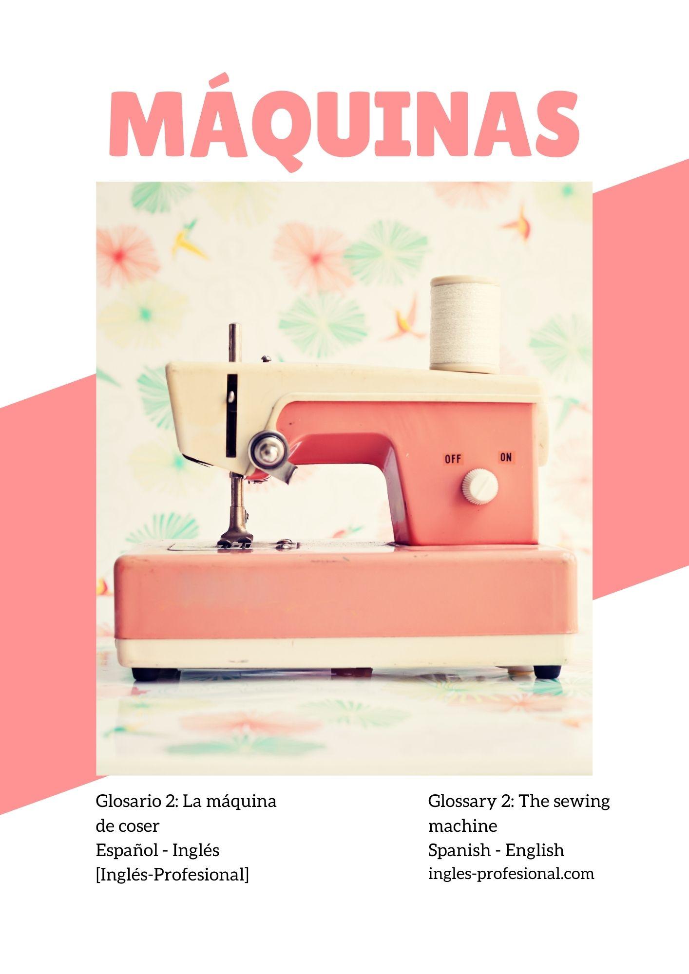 Glosario maquinas de coser