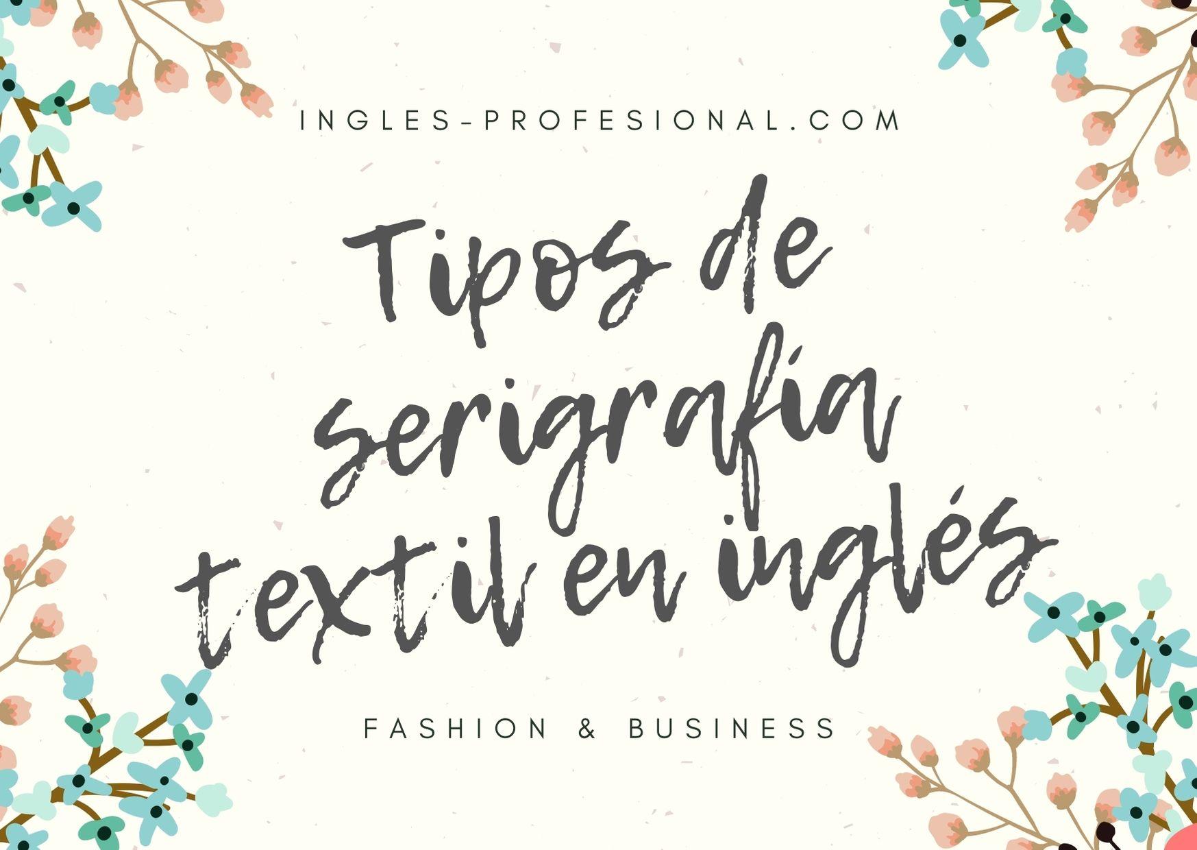 tipos de serigrafía textil