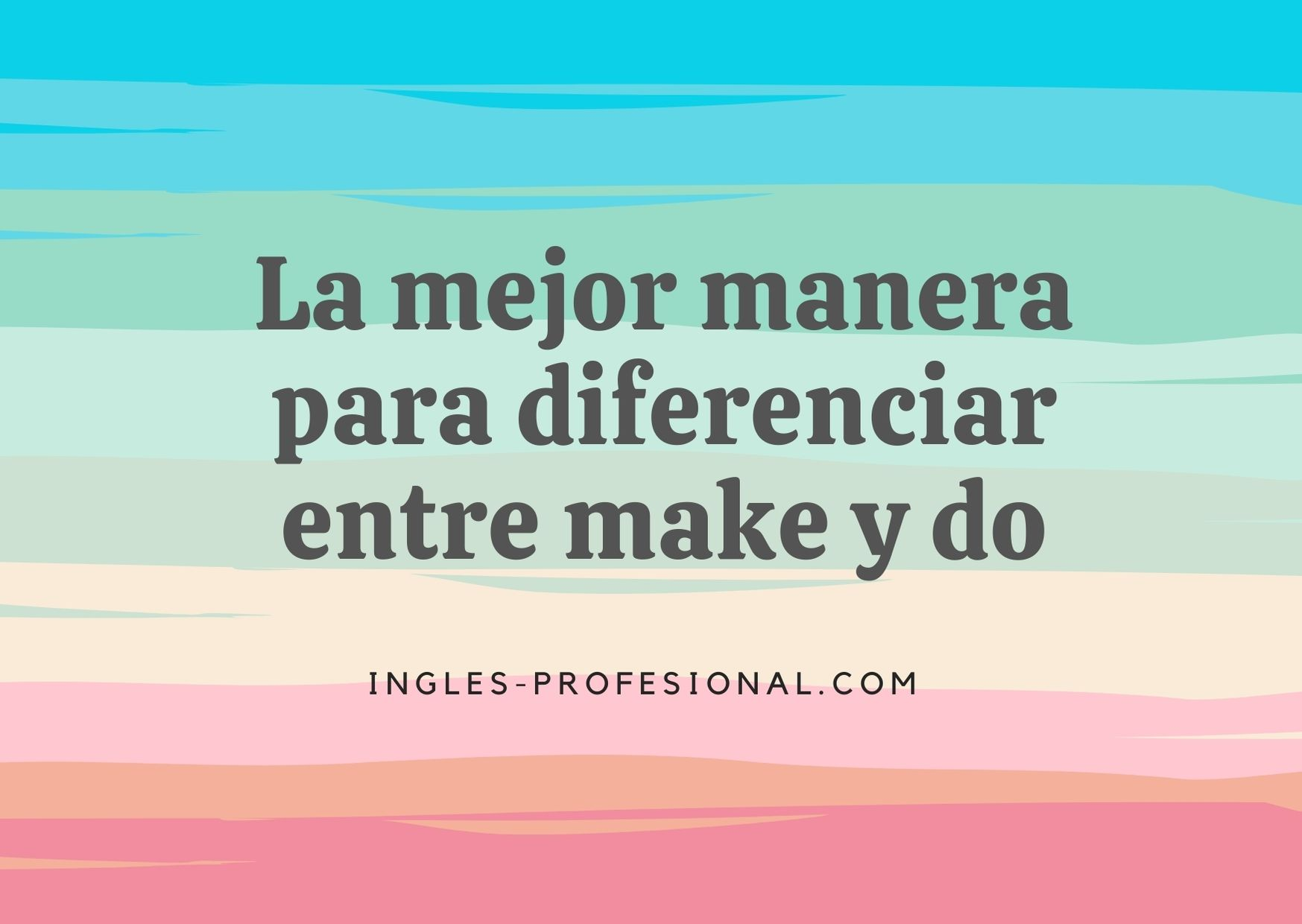 diferenciar entre make y do