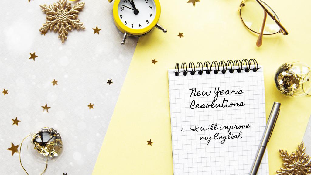 propósitos de año nuevo en inglés