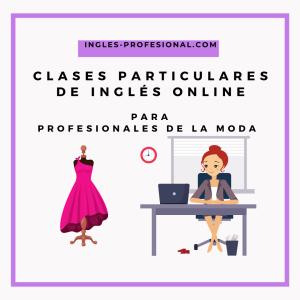 clases online de inglés para la moda